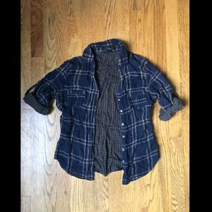 Navy and Olive Flannel